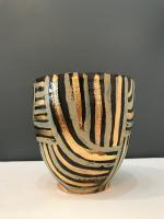 Gold and brown pot by Sue Blagden